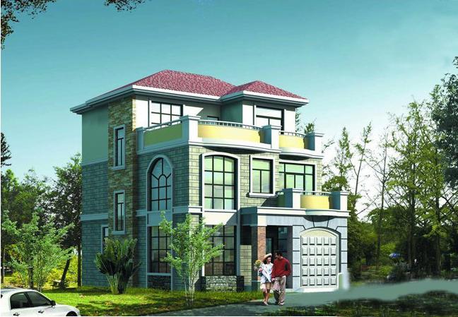 三层复式框架结构别墅建筑设计(包含CAD)