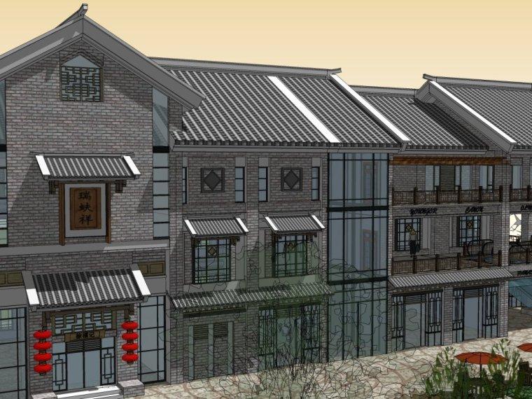 商业街中式风格三层建筑方案设计(SU模型)-20150805_223509_062