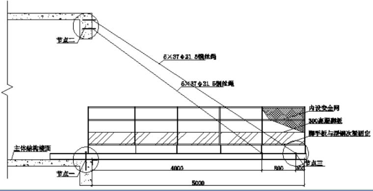 悬挑式卸料平台方案