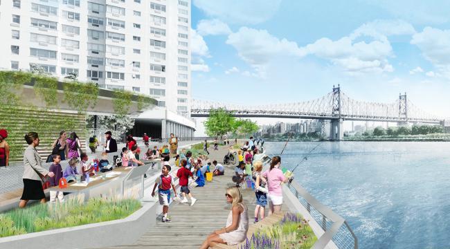 曼哈顿新东河散步道设计计划