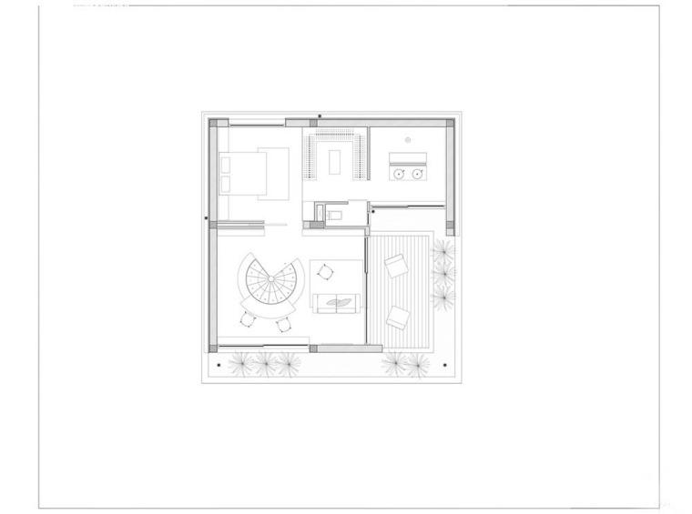 越南胡志明白色方块住宅-23