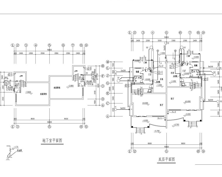 UPVC配件资料下载-给排水设计实例图纸