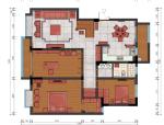 [南京]中式风格别墅室内空间设计施工图(含实景图)