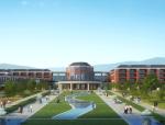 [湖北]传承式人文风情中学校园景观规划设计方案