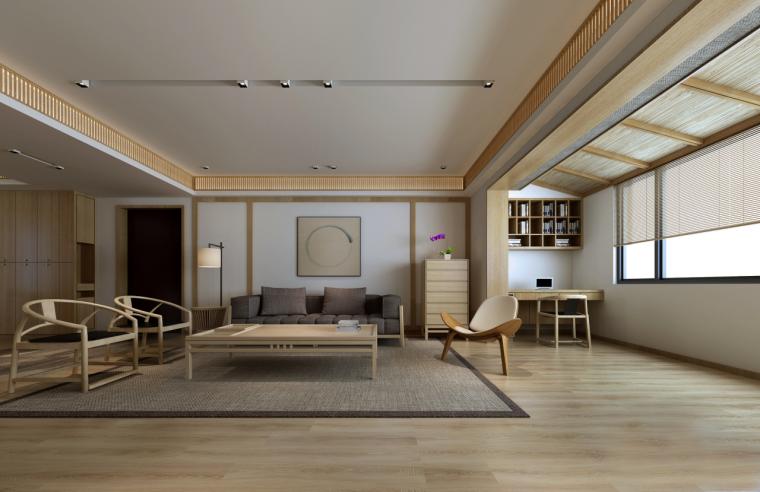 简单自然的中式风格住宅室内实景图 (2)