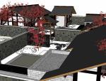 古典中式园林景观规划设计模型