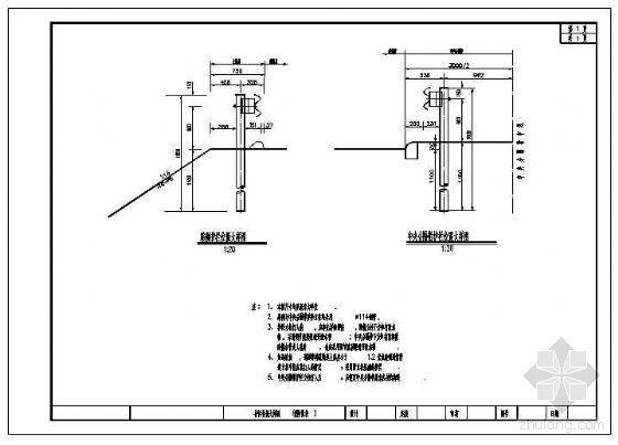 高速中央分隔带及路侧护栏位置大样详图