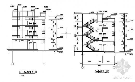永春县某三层医院门诊综合楼建筑结构设计图-2