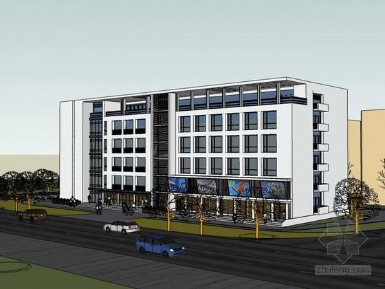 办公楼建筑sketchup模型下载