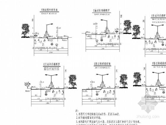 跨江大桥接线道路竣工图200张(含交通排水电气绿化)
