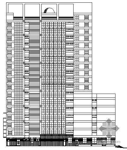 [凤岗镇]某十七层银行大楼建筑施工图