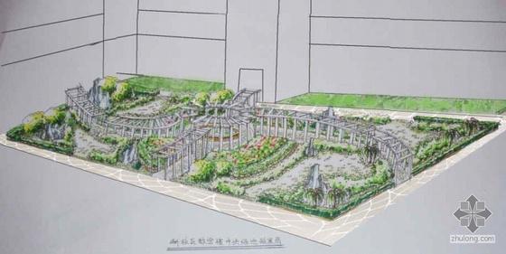 某大学教学区中心绿地规划设计
