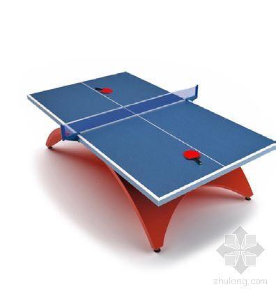 vray材质球素材资料下载-乒乓球桌5