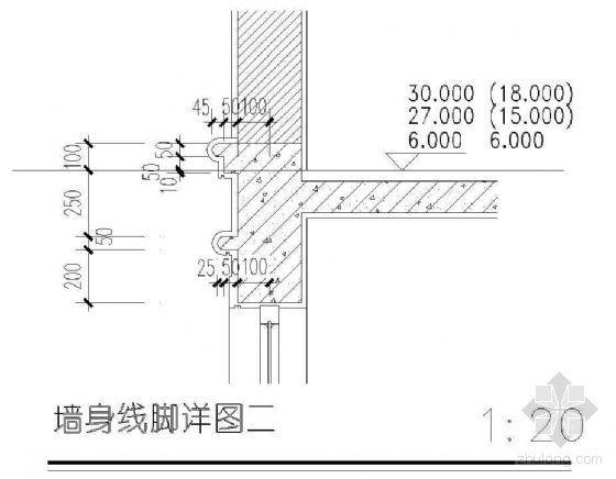 墙身线脚详图(二)