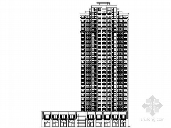 [镇江]某居住区二十八层商住楼建筑施工图(1、2号楼)