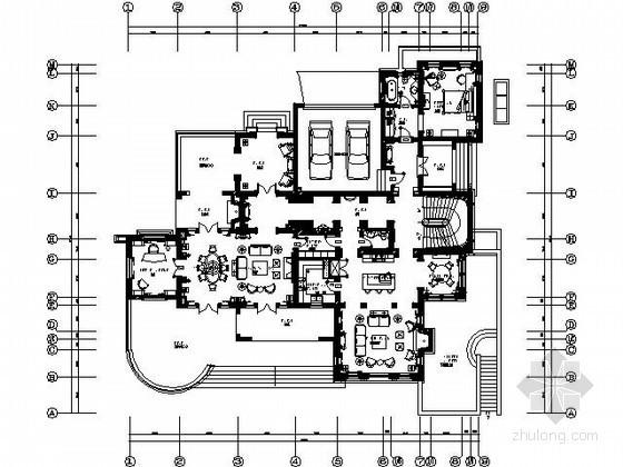 [上海]欧式豪华别墅s21施工图(含实景)