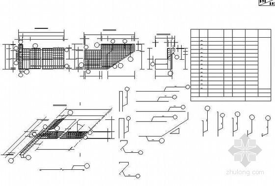20米后张法预应力空心箱梁桥台耳背墙钢筋构造节点详图设计