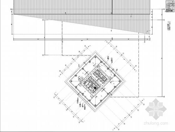 [武汉]超高层百米框架结构办公及会议中心建筑设计方案文本-超高层百米框架结构办公及会议中心建筑平面图