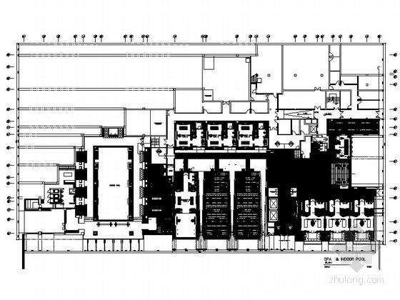 [杭州]西子湖畔江南庭院式高档时尚度假酒店装修施工图(含效果)