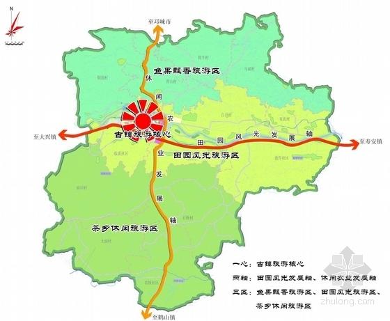 [四川]禅茶古镇景观规划方案设计-空间布局