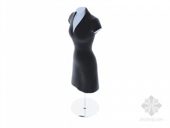 服装模特展示3D模型下载