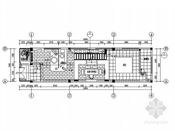 [原创]福州与世隔绝韵味茶馆室内施工图(含效果图)