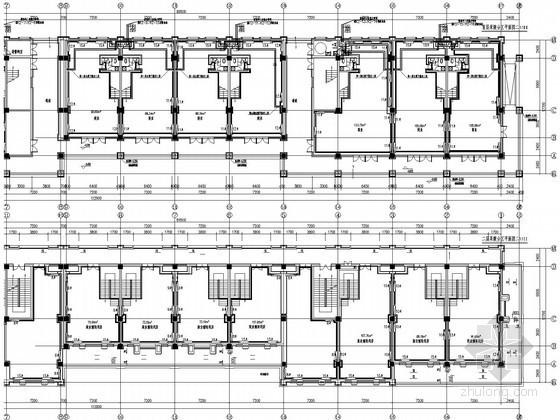 [天津]商业建筑散热器采暖设计施工图(4栋楼)