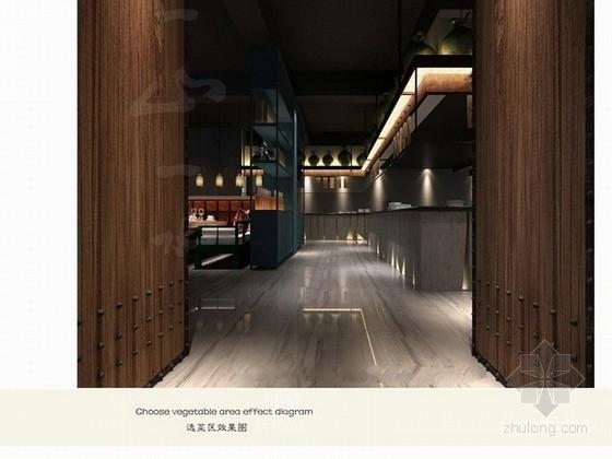 [山东]中国风双层餐厅室内设计方案 效果图