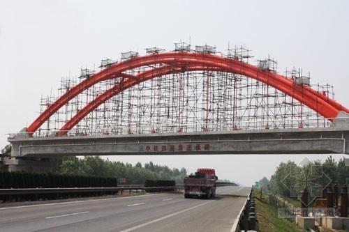 钢管砼系杆拱桥主桥支架施工方案附计算书(22页 图文并茂)