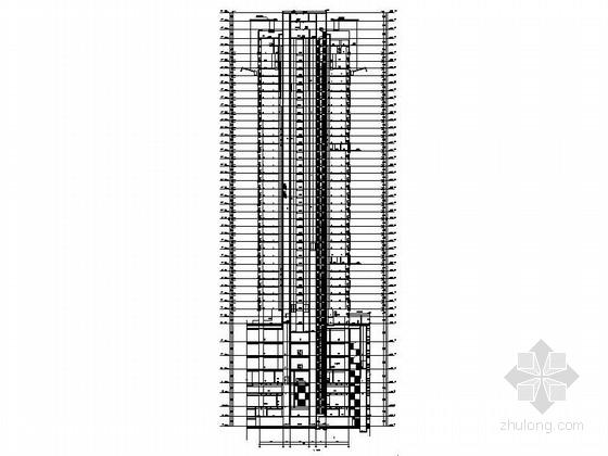 [四川]160米独栋现代风格住宅楼设计施工图(知名建筑设计院)-160米独栋现代风格住宅楼剖面图