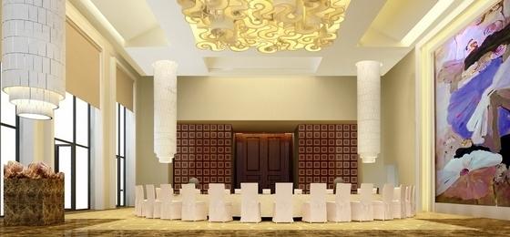 [广东]商业中心现代风格商务酒店2号楼室内设计方案宴会厅效果图