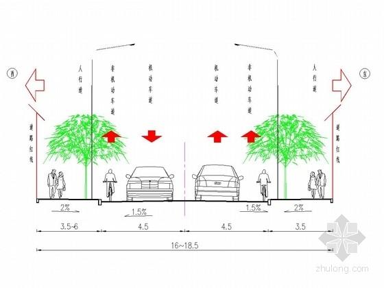 [山东]市政道路基础设施建设施工图设计73张