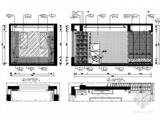 [惠州]温馨现代风格三居室样板间室内装修图(含效果)立面