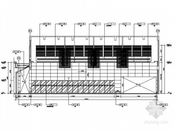 [苏州]环抱独墅湖水天一色苏式恬静会议酒店设计施工图(含方案及实景)大厅立面图