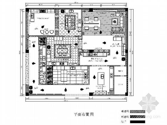 [广东]某名品橱柜专卖店室内装修施工图
