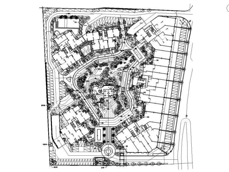 [广东]中山海怡湾全套居住区绿化施工图设计(2017年最新资料)