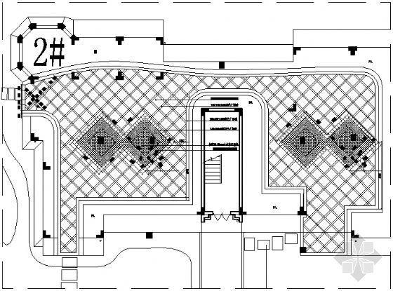 居住区铺装平面图(19)-4