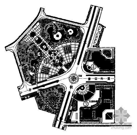 某广场景观规划图