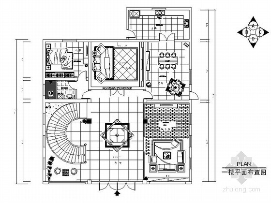 [武汉]双层精致小别墅室内装修图