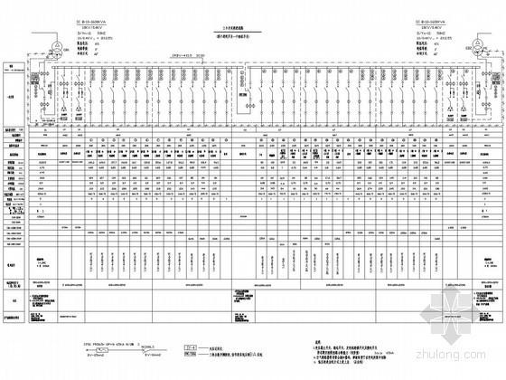 [江苏]20万平纺织服装城电气施工图39张
