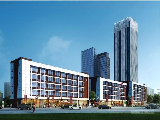 [贵州]三层办公楼土建工程量计算及预算书全套(广联达软件实例 含图纸)
