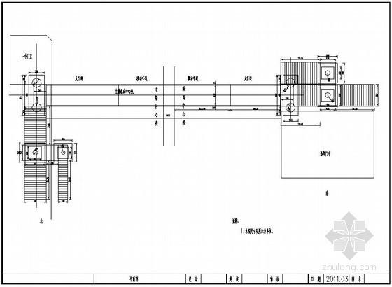 某市钢结构人行天桥设计图