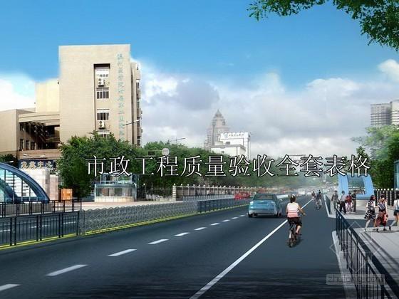 市政工程质量验收全套表格(道路、桥梁、给排水、污水厂)