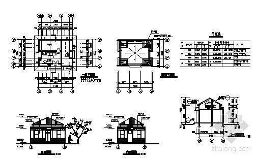 某绿地管理房建筑方案图-4