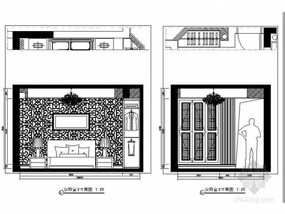 [重庆]某欧式四居室客房立面图