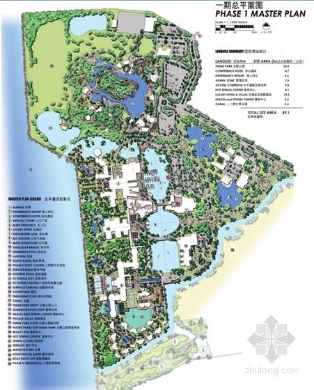 [珠海]海洋温泉旅游度假村景观设计平面图