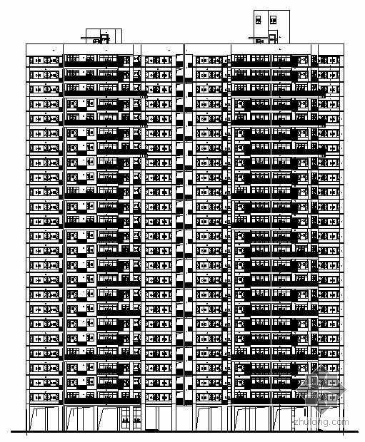 某集团住宅小区二十四层民居建筑施工图