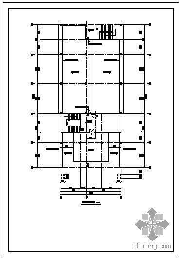 某大楼钢构屋顶平面及立体节点构造详图