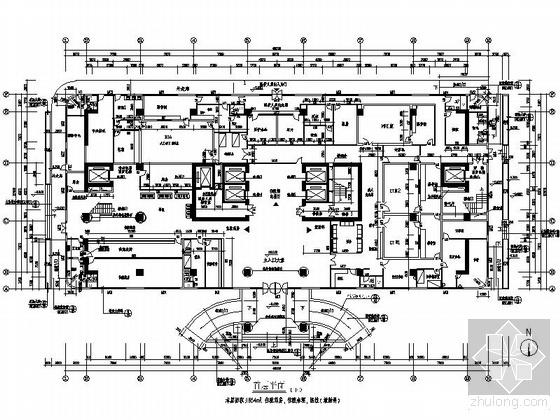某大型医院十三层住院大楼平面图