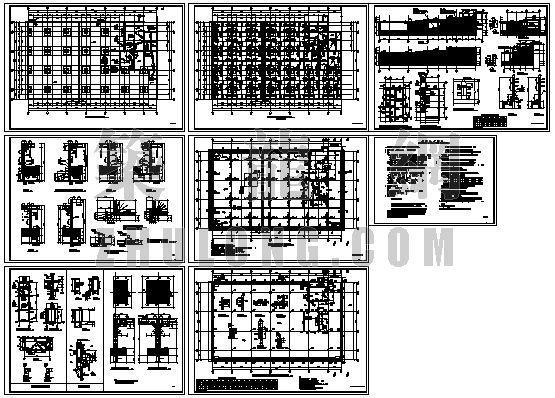 某地下车库全套结构图